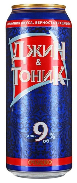 Напиток слабоалкогольный Джин-Тоник Очаково 0.5 л