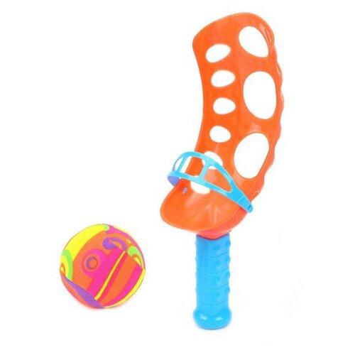 Набор Наша игрушка Поймай мячик (377) оранжевый/голубой, Спортивные игры и игрушки  - купить со скидкой