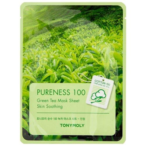 Фото - TONY MOLY тканевая маска Pureness 100 Green Tea, 21 мл tony moly тканевая маска pureness 100 pearl 21 мл