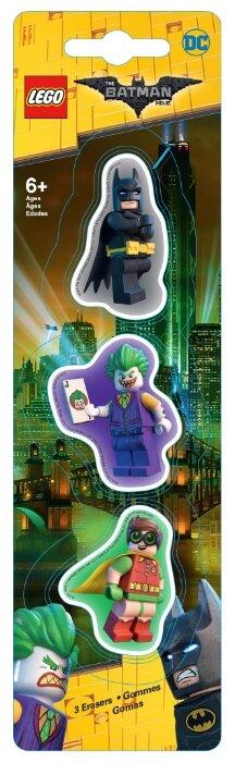 LEGO Набор ластиков Batman movie (Batman/Robin/The Joker) 3 шт.