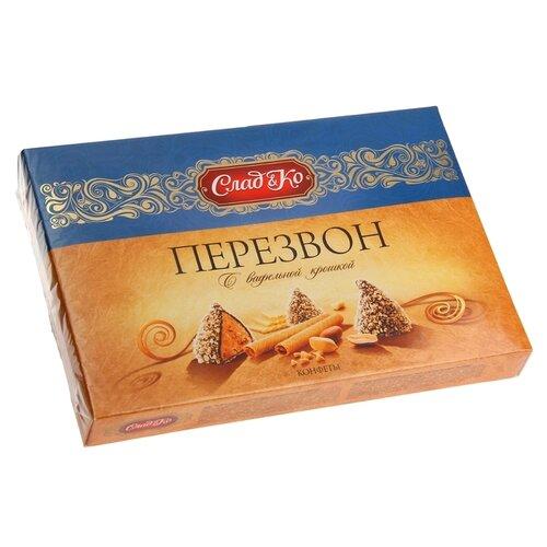 Набор конфет СладКо Перезвон с вафельной крошкой 220 г синий/золотой
