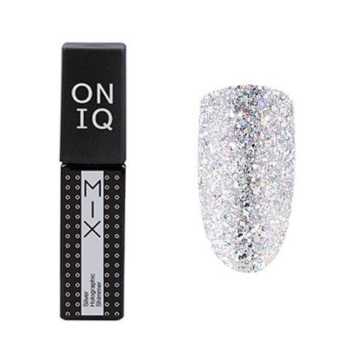 Гель-лак для ногтей ONIQ MIX, 6 мл, оттенок 100S Silver Holographic Shimmer гель лак для ногтей oniq mix 6 мл оттенок 104s green and pink yuki flakes