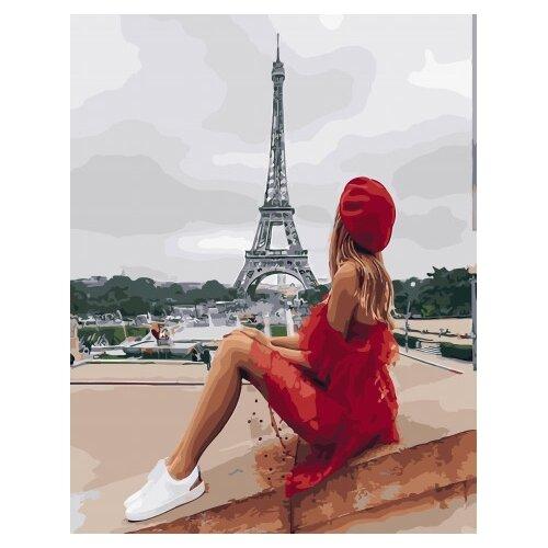 Картина по номерам Paintboy PK 45007 Отдых у Эйфелевой башни 40х50 см картина постер в раме postermarket эйфелевой башни 27х32см