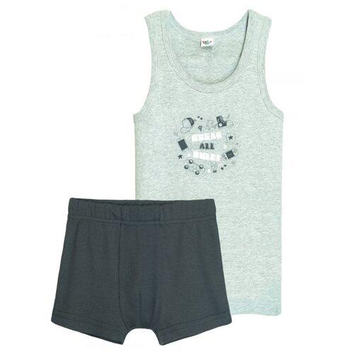Купить Комплект нижнего белья Let's Go размер 152-158, серый/темно-серый, Белье и пляжная мода