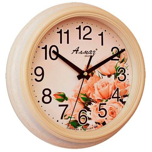 цена на Часы настенные кварцевые Алмаз C41 бежевый