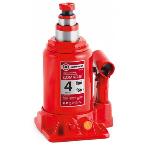 цена на Домкрат бутылочный гидравлический AUTOPROFI DT-04 (4 т) красный