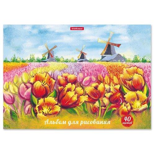 Купить Набор альбомов для рисования ErichKrause Цветущая Голландия 29.7 х 21 см (A4), 120 г/м², 40 л. (5шт.), Альбомы для рисования
