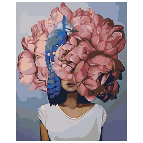 Купить Картина по номерам Живопись по Номерам Девушка в цветах 3 , 40x50 см, Живопись по номерам, Картины по номерам и контурам