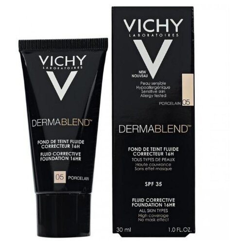 Vichy Тональный флюид Dermablend, 30 мл, оттенок: 05 porcelain vichy dermablend купить