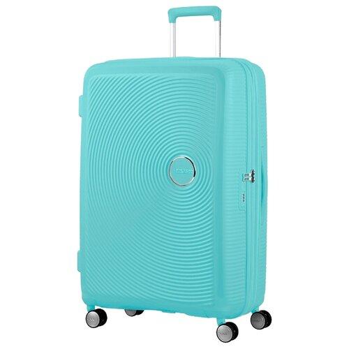 Чемодан American Tourister Soundbox L 110 л, poolside blue