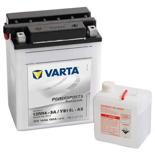 Мото аккумулятор VARTA Powersports Freshpack (514 011 014) 806 110 514 014 тонкая