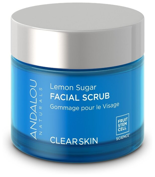 Andalou Naturals скраб для лица Clearskin Lemon