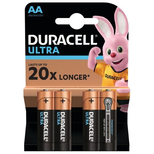 Батарейка Duracell Ultra Power AA/LR6 4 шт блистер батарейка aa duracell lr6 mn1500 4 штуки