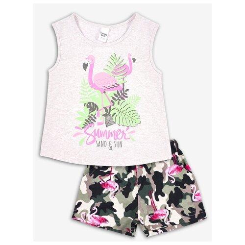Комплект одежды Веселый Малыш размер 98, серый/розовый