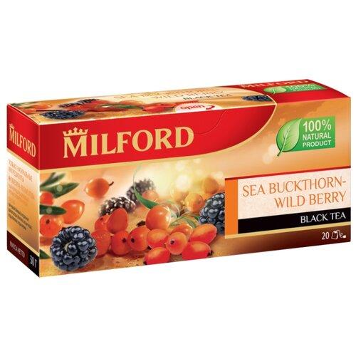 Чай черный Milford Sea buckthorn-wild berries в пакетиках, 20 шт. чай зеленый milford wellness в пакетиках 20 шт