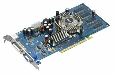 Видеокарта ASUS GeForce 6200 300Mhz AGP 128Mb 550Mhz 128 bit DVI TV