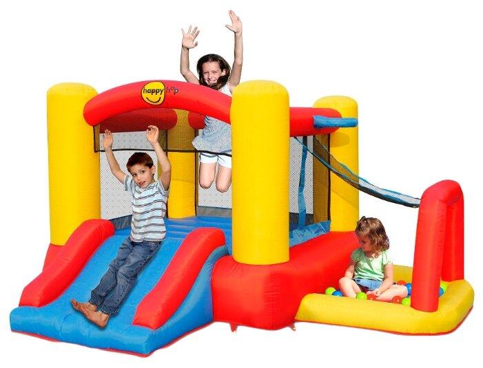 Надувной комплекс Happy Hop Игровой центр 4 в 1 9450