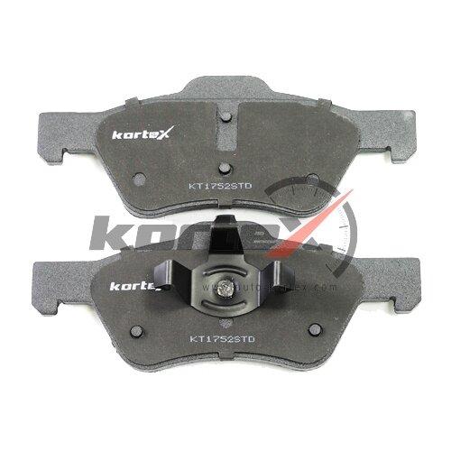 Фото - Дисковые тормозные колодки передние KORTEX KT1752STD для Ford Maverick, Mazda Tribute (4 шт.) дисковые тормозные колодки передние ferodo fdb4446 для mazda 3 mazda cx 3 4 шт