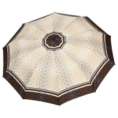 Зонт автомат ZEST 23968 бежевый/коричневый зонт zest 41683 x884