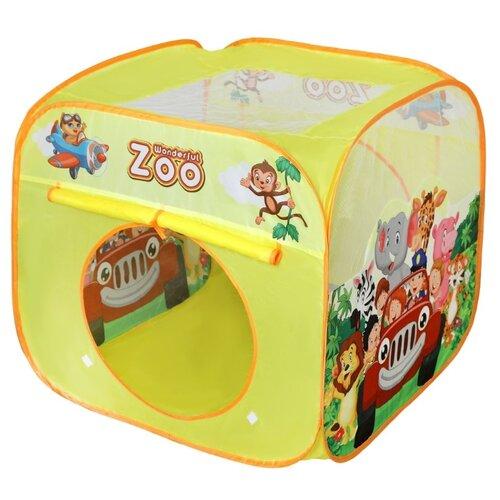 Фото - Палатка Наша игрушка Путешествие 800629, желтый растяжка наша игрушка 2203 красный желтый синий
