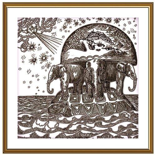 Купить Набор для вышивания Нова Слобода ДК №21 3237 Атланты Земли 25х25см, NOVA SLOBODA, Наборы для вышивания