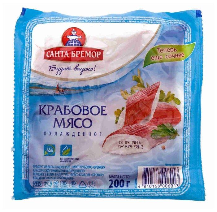 Санта Бремор Крабовое мясо классическое имитация