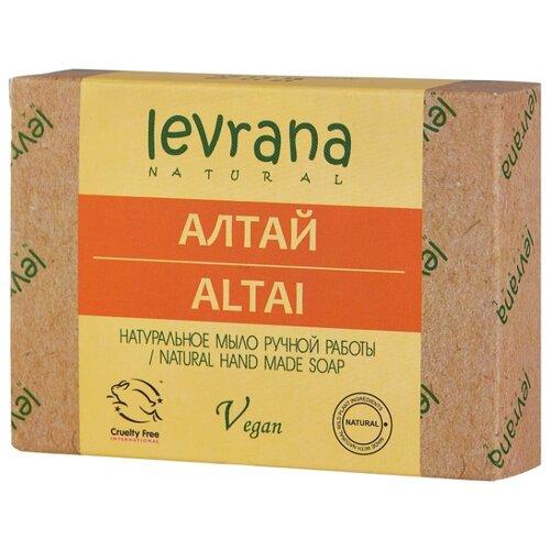 Мыло кусковое Levrana Алтай натуральное ручной работы, 100 г levrana натуральное мыло календула 100 г