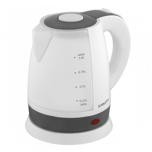 Чайник Scarlett SC-EK18P53, белый/серый чайник электрический scarlett sc ek18p53 1л 1600вт белый серый корпус пластик