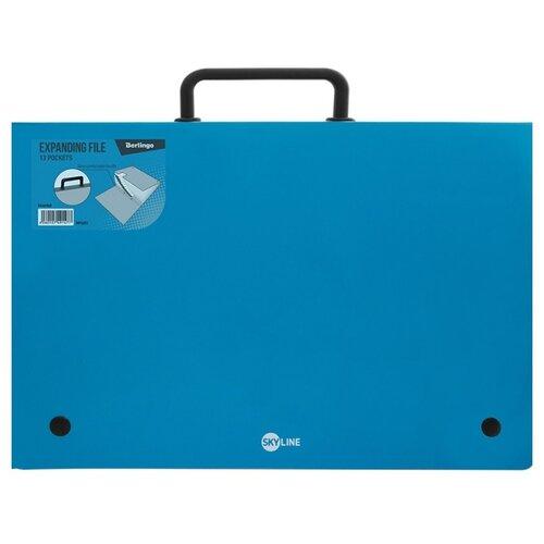 Купить Berlingo Папка-портфель 13 отделений Skyline А4 синий, Файлы и папки