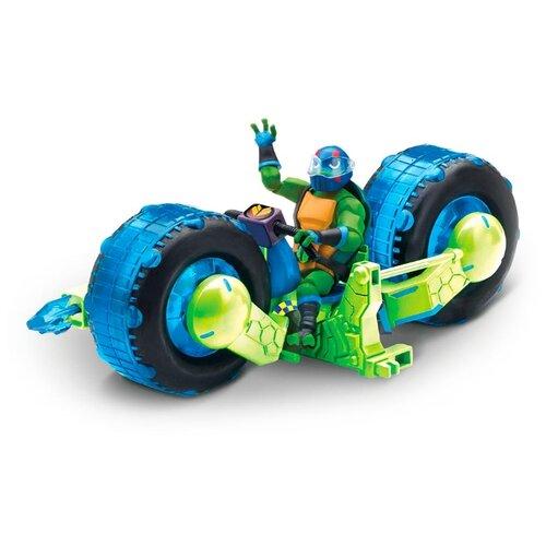 Фото - Фигурка Playmates TOYS ROTMNT Мотоцикл с фигуркой Лео 82481 фигурка playmates toys rotmnt микеланджело 80803