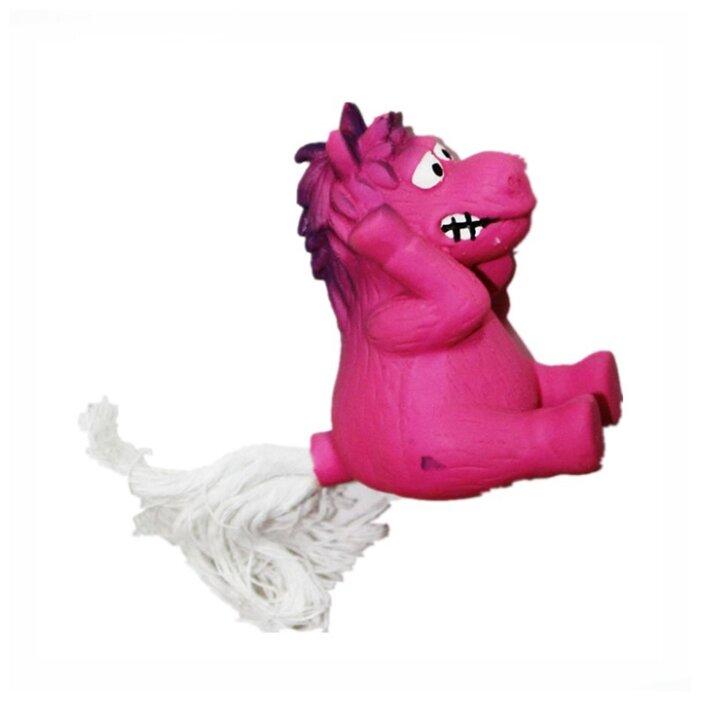 Игрушка для собак Грызлик Ам Лошадь с веревочным хвостом