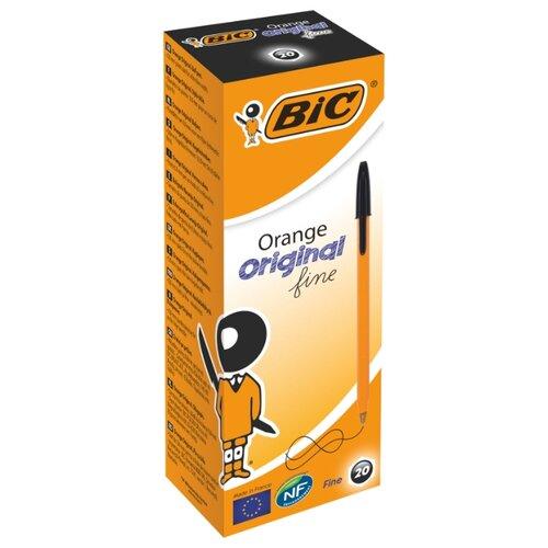 BIC Набор шариковых ручек Orange Original fine, 0.8 мм (1199110113/8099241/8099221/8099231), черный цвет чернил