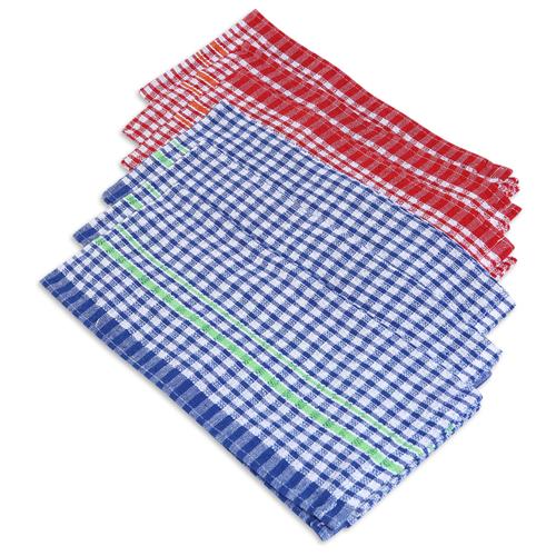 хозяйственные товары dosh home набор полотенец atira 6 шт Набор полотенец, DOSH   HOME, ATIRA, 6шт Красный-синий клетка