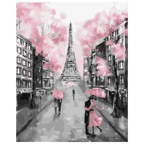 Купить Картина по номерам Живопись по Номерам Под зонтом в Париже , 40x50 см, Живопись по номерам, Картины по номерам и контурам