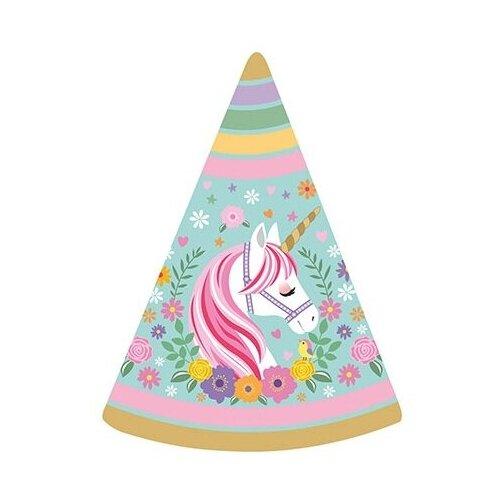 Веселая затея Колпак Единорог (0040-0007) (6 шт.) бирюзовый пати бум колпак party girls 6 шт