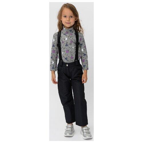 Купить Брюки Button Blue 220BBGMC6402 размер 122, черный, Полукомбинезоны и брюки