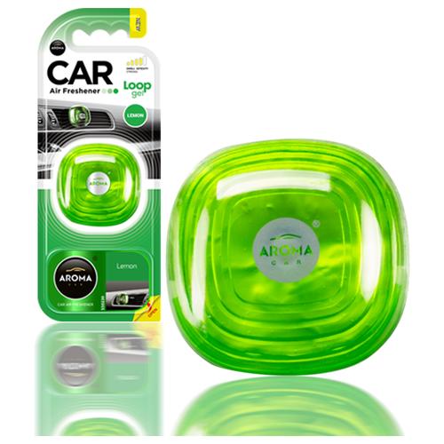 Ароматизатор автомобильный на дефлектор Aroma Car LOOP Gel, Lemon