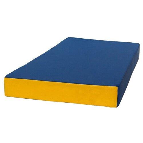 Спортивный мат 1000х500х100 мм КМС № 1 сине/жёлтый
