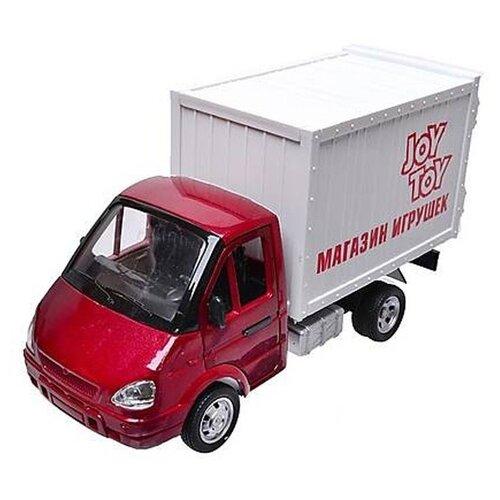 Фургон Joy Toy Газель (A071-H11012) 1:27, 20 см, красный/белый