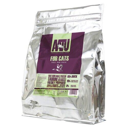 Сухой корм для кошек AATU беззерновой, с уткой 8 кг