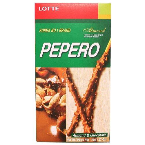 Фото - Соломка в шоколадной глазури с миндалем Almond Pepero Lotte 36 г грецкий орех кремлина в шоколадной глазури 135 г