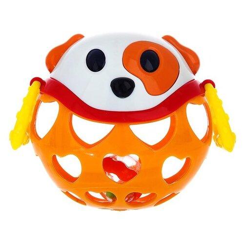 Погремушка Крошка Я Собачка 3601752 оранжевый погремушка крошка я песочные часы 3650063 желтый оранжевый