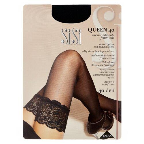 цена Чулки Sisi Queen 40 den, размер 4-L, nero (черный) онлайн в 2017 году