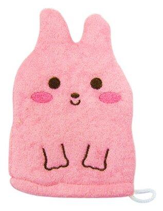 Мочалка Kokubo рукавичка Розовый кролик