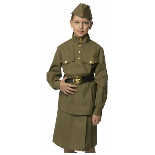 Купить Костюм Вестифика Гимнастерка (108 003), зеленый, размер 140-146, Карнавальные костюмы
