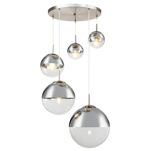 Фото - Светильник подвесной Toplight Glass, TL1203H-05CH, 200W, E27 светильник toplight glass tl1203h 11ch e27 40 вт