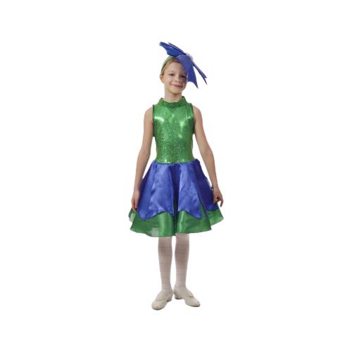 Купить Костюм ПТИЦА ФЕНИКС Василёк, зеленый/синий, размер 134-140, Карнавальные костюмы