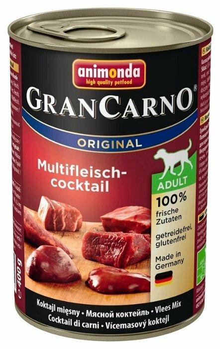 Корм для собак Animonda GranCarno Original мясное ассорти 6шт. х 400г