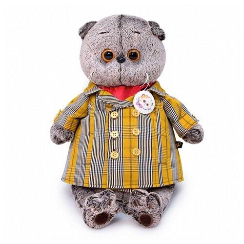 Купить Budi Basa Мягкая игрушка Кот Басик в двубортном плаще, 25 см, BUDI BASA collection, Мягкие игрушки