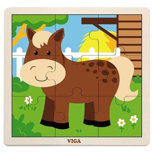 Рамка-вкладыш Viga Лошадка (51439), 9 дет.